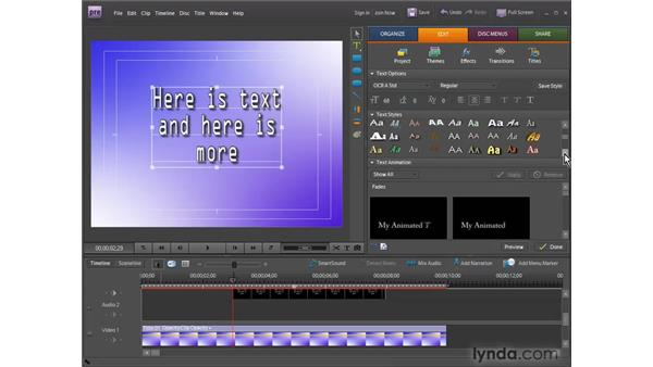 Creating titles from scratch: Premiere Elements 7 Essential Training