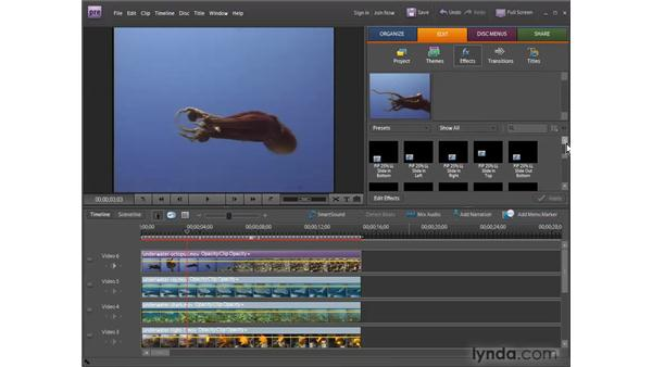 Creating picture-in-picture overlays: Premiere Elements 7 Essential Training