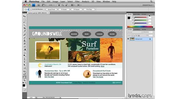 Customizing panels: Photoshop CS4 for the Web
