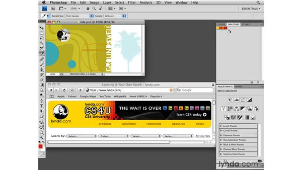 Making a custom color swatch: Photoshop CS4 for the Web