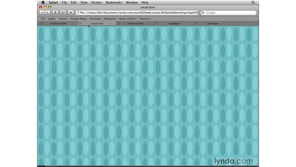 Designing web backgrounds: Photoshop CS4 for the Web