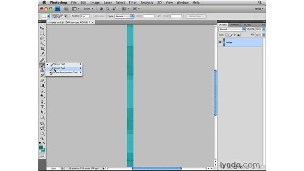 Building a striped background: Photoshop CS4 for the Web