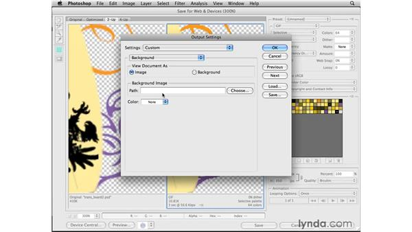 Optimizing transparent graphics for solid backgrounds: Photoshop CS4 for the Web