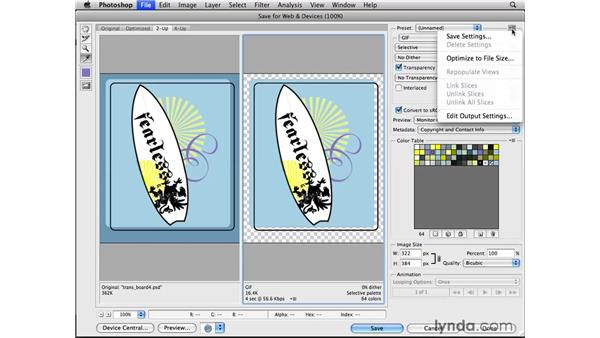 Starting with a non-transparent graphic: Photoshop CS4 for the Web