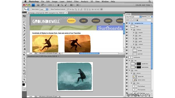 Adding images: Photoshop CS4 for the Web