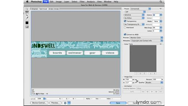 Optimizing rollover graphics: Photoshop CS4 for the Web