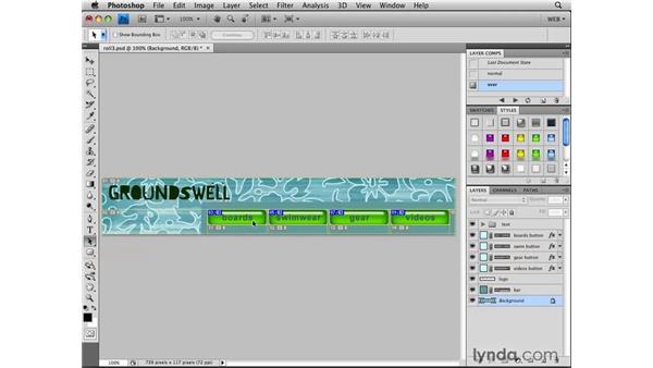 Installing the lynda.com rollover script: Photoshop CS4 for the Web