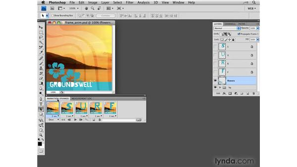 Creating animations from layer visibility: Photoshop CS4 for the Web