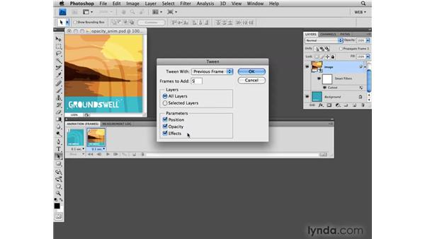 Tweening with opacity: Photoshop CS4 for the Web