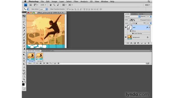 Tweening with position and layer effects: Photoshop CS4 for the Web