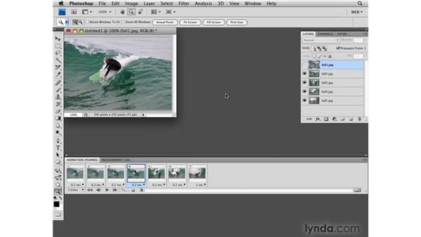 Creating simple animated slideshows: Photoshop CS4 for the Web
