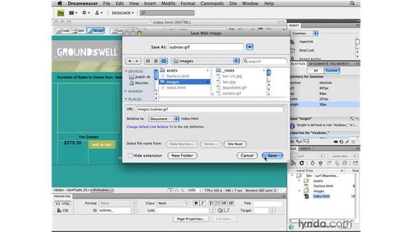 Dreamweaver Smart Object integration: Photoshop CS4 for the Web