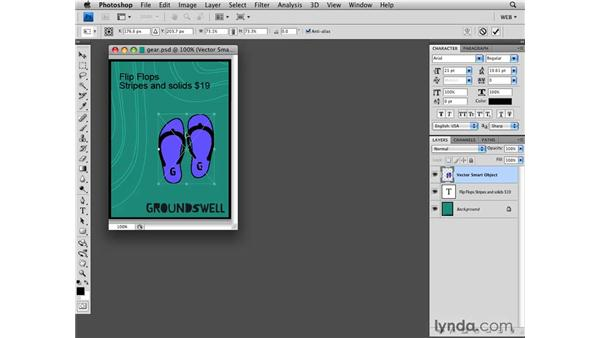 Illustrator vector Smart Object integration: Photoshop CS4 for the Web