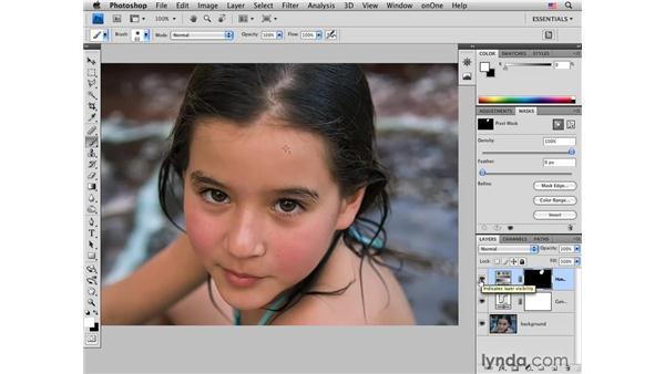 Correcting reflected color: Photoshop CS4 for Photographers: Desktop Printing Techniques