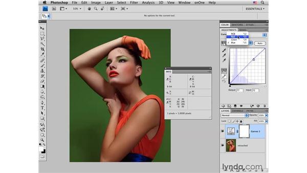 Color-correcting a studio fashion portrait: Photoshop CS4 for Photographers: Desktop Printing Techniques