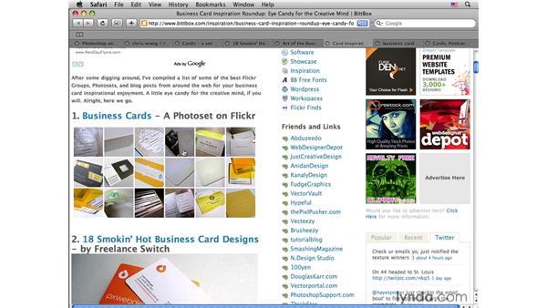 Business card resources: Photoshop CS4 for Photographers: Desktop Printing Techniques
