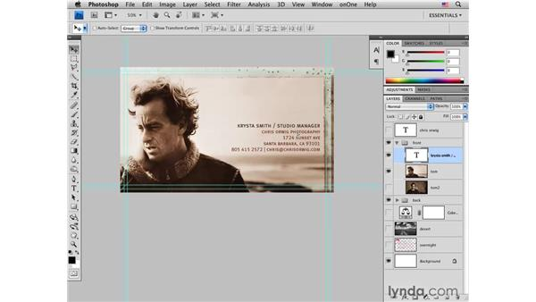 Repurposing a business card for others: Photoshop CS4 for Photographers: Desktop Printing Techniques