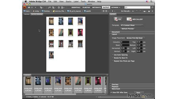 Creating a layout pt. 1: Using the Output module to create a rough layout: Photoshop CS4 for Photographers: Desktop Printing Techniques