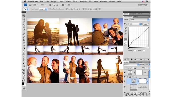 Multiple-image layout pt. 4: Color and sharpening: Photoshop CS4 for Photographers: Desktop Printing Techniques