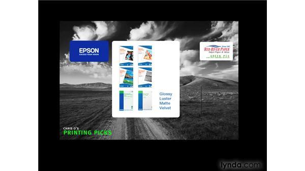 Paper recommendations: Photoshop CS4 for Photographers: Desktop Printing Techniques