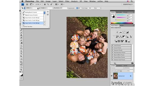Resizing in Photoshop: Photoshop CS4 for Photographers: Desktop Printing Techniques