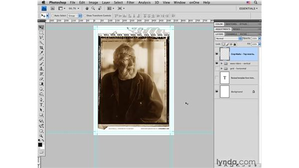 Using a promo card template: Photoshop CS4 for Photographers: Desktop Printing Techniques