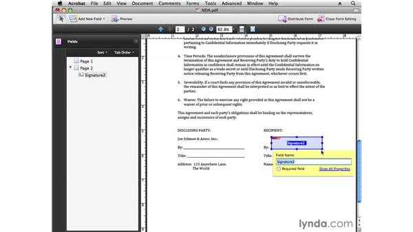 Making a signature box for Adobe Reader: Acrobat 9 Pro Tips and Tricks
