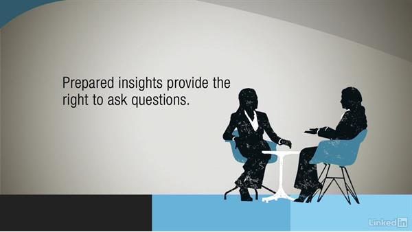 Creating questions from insights: Asking Great Sales Questions