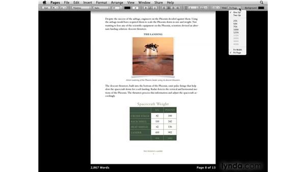 Working in full-screen view: iWork '09 New Features