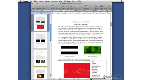 Using the improved navigation features: iWork '09 New Features