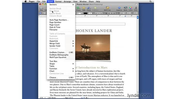 Accessing the new word-processing features: iWork '09 New Features