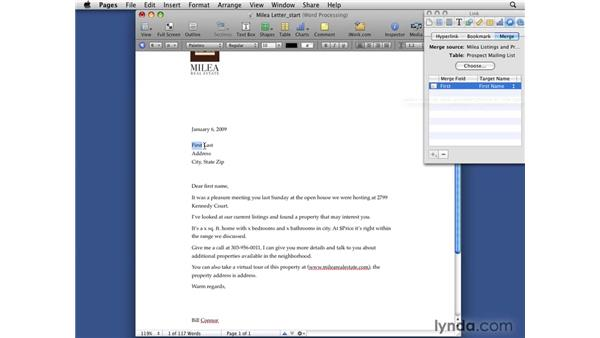 Doing a mail merge with Numbers: iWork '09 New Features