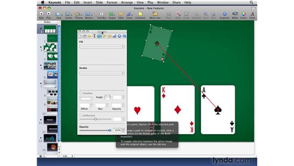 Using improved A-to-B animations: iWork '09 New Features