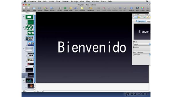 Building new text transitions: iWork '09 New Features