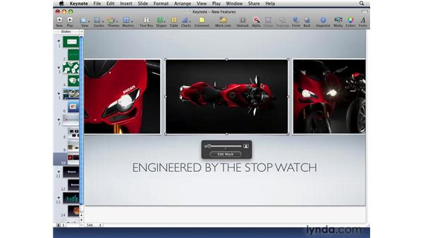 Optimizing images and movies: iWork '09 New Features