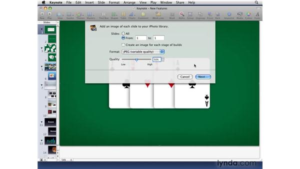 Looking at the new sharing options: iWork '09 New Features
