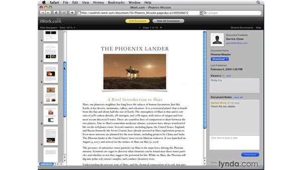 Using iWork.com: iWork '09 New Features