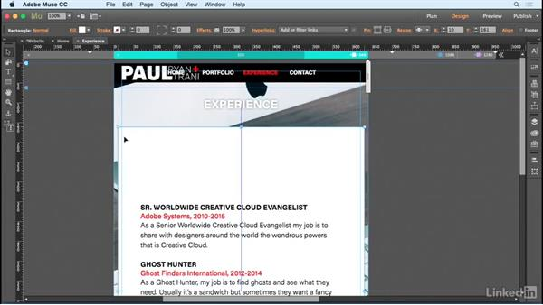 Creating a mobile layout: Designing a Responsive Mobile Website with Muse