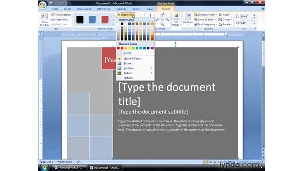 Editing building blocks: Word 2007: Formatting Long Documents