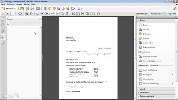 Briefpapier als pdf hintergrund