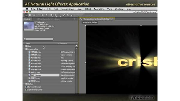 Application: After Effects: Natural Light Effects