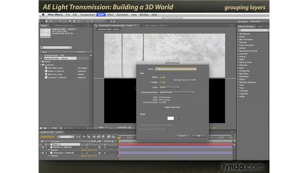 Building a 3D World: After Effects: Light Transmission