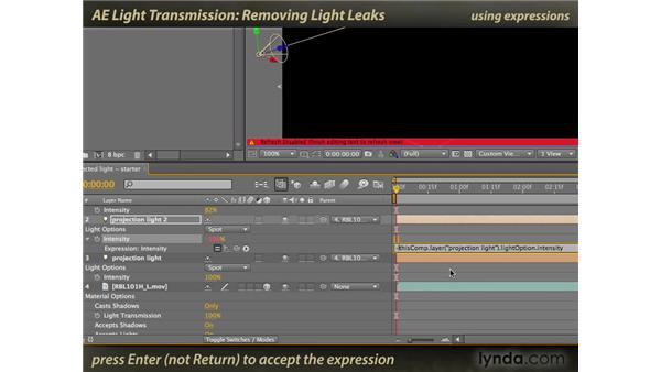 Removing Light Leaks: After Effects: Light Transmission