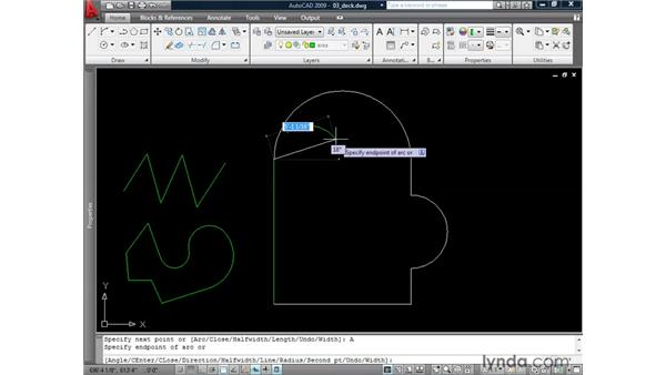 Generating polylines: AutoCAD 2009: 2D Drafting Techniques