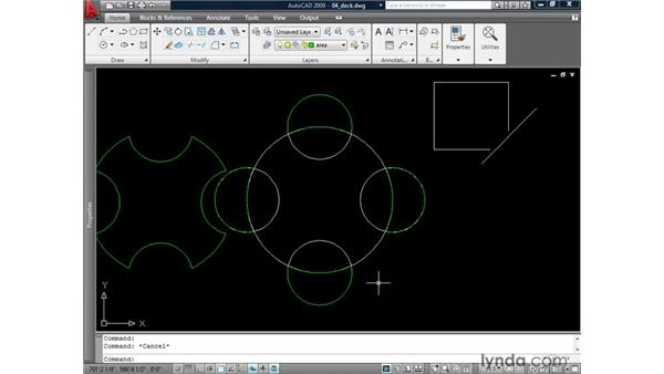 Creating boundaries: AutoCAD 2009: 2D Drafting Techniques