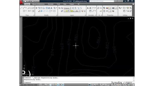 Using points as markers: AutoCAD 2009: 2D Drafting Techniques