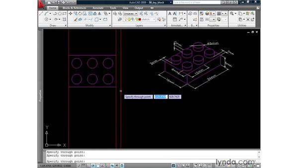 Drafting with construction lines and rays: AutoCAD 2009: 2D Drafting Techniques