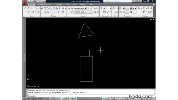 Aligning geometry: AutoCAD 2009: 2D Drafting Techniques