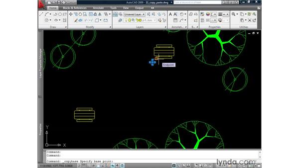 Using the Clipboard functions: AutoCAD 2009: 2D Drafting Techniques