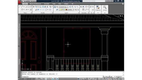 Using Apparent Intersection, Nearest, Node, and None: AutoCAD 2009: 2D Drafting Techniques
